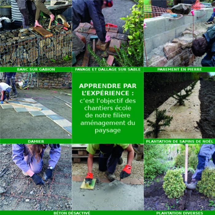 Apprendre par l'expérience : c'est l'objectif des chantiers école de notre filière aménagement du paysage