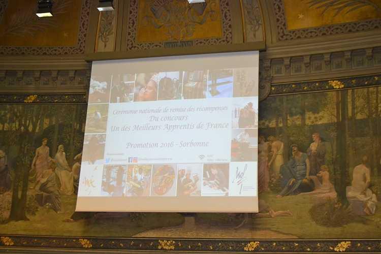 Meilleur Apprenti de France: Guillaume Courcoux reçu à la Sorbonne pour la remise des médailles! dsc00731