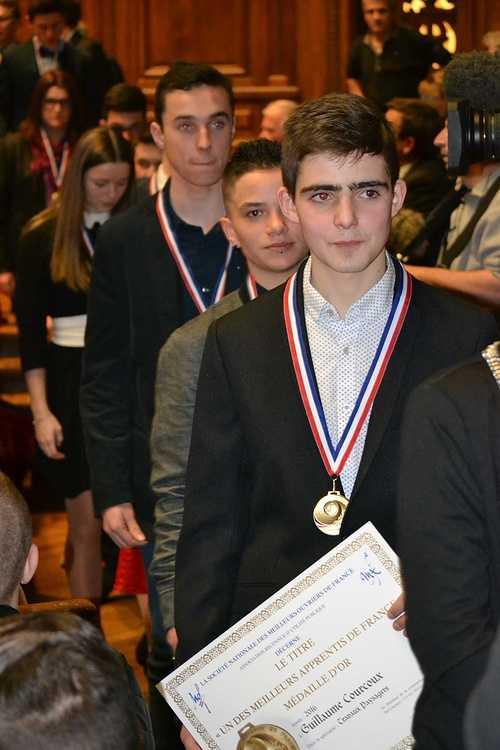 Meilleur Apprenti de France: Guillaume Courcoux reçu à la Sorbonne pour la remise des médailles! dsc0164