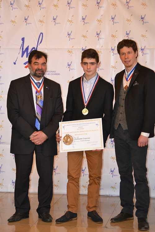 Meilleur Apprenti de France: Guillaume Courcoux reçu à la Sorbonne pour la remise des médailles! dsc0176