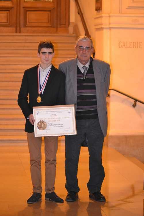 Meilleur Apprenti de France: Guillaume Courcoux reçu à la Sorbonne pour la remise des médailles! dsc0220