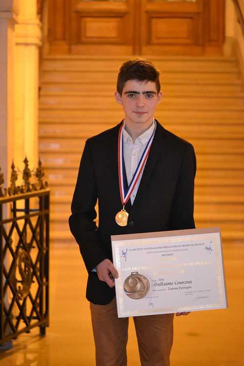 Meilleur Apprenti de France: Guillaume Courcoux reçu à la Sorbonne pour la remise des médailles! 0