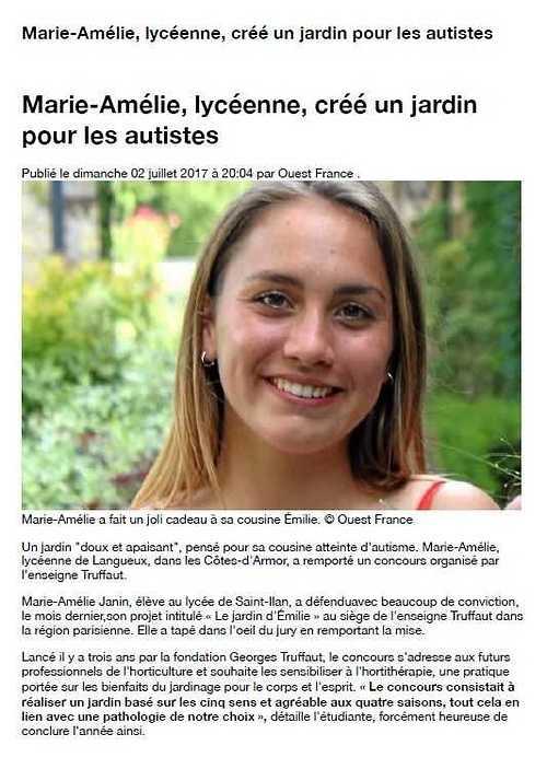 Marie-Amélie JANIN créé un jardin pour les autistes ! ma1