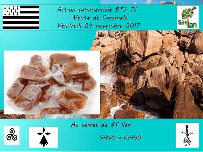 Vente de caramels le 24 novembre 0