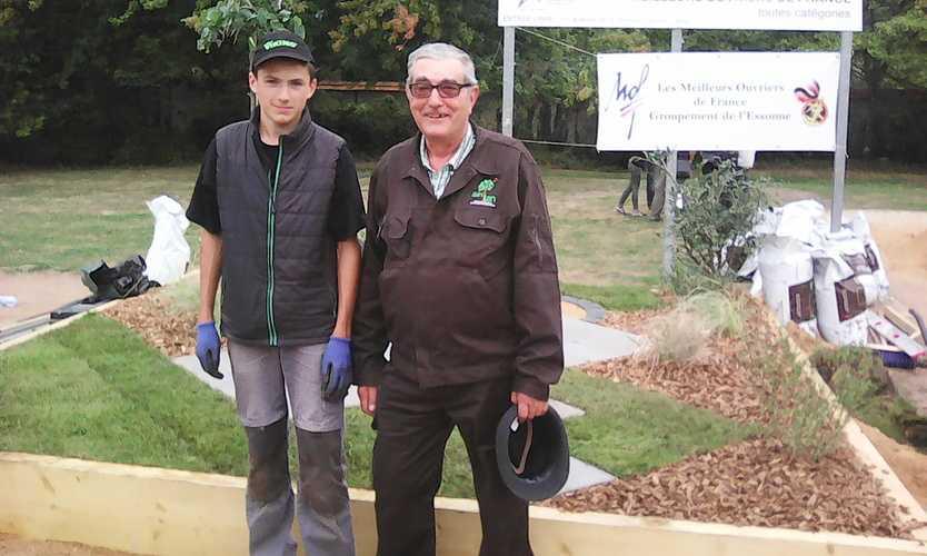 Un élève de Saint-ilan à la finale Nationale du Concours « Un des Meilleurs Apprentis de France » dans la section Travaux Paysagers. 0