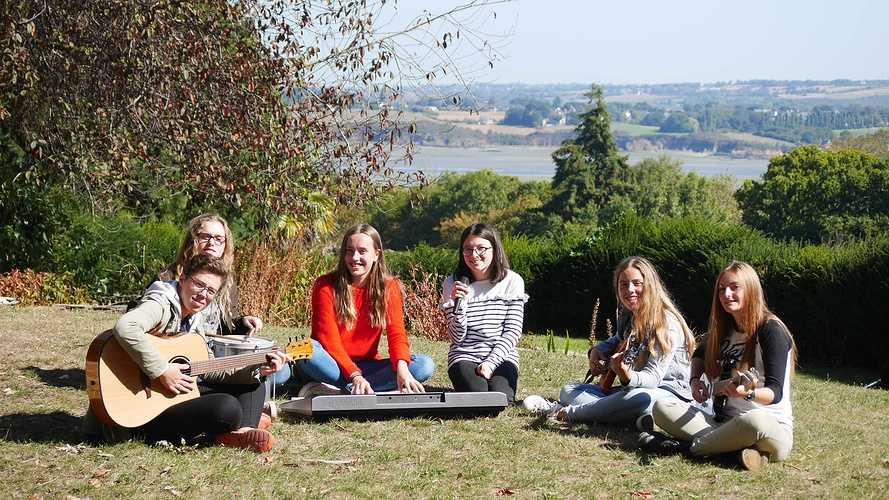 Des musiciens en herbe à Saint-Ilan p1210122