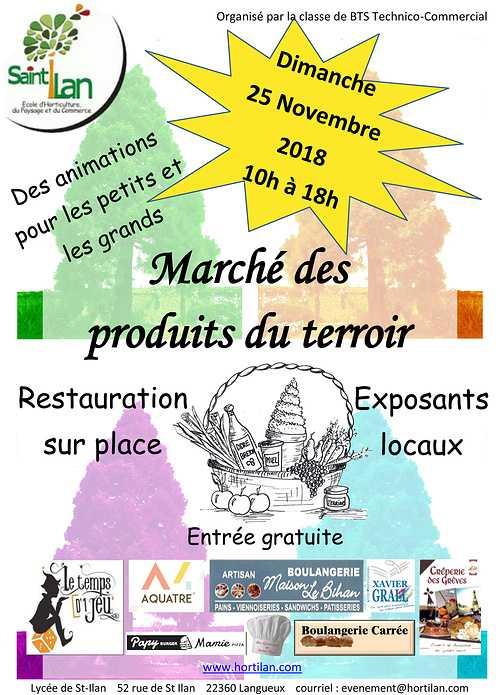 Dimanche 25 Novembre 2018 : le marché des 4 saisons à Saint-Ilan 0