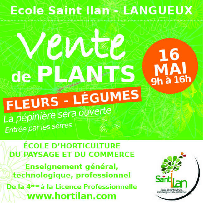 Vente de plants - 16 mai 9h à 16h