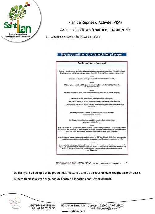 L''école Saint Ilan ouvre le 4 juin lepraeleves-page1
